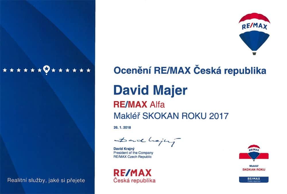 David Majer skokan roku REMAX 2017 makléř