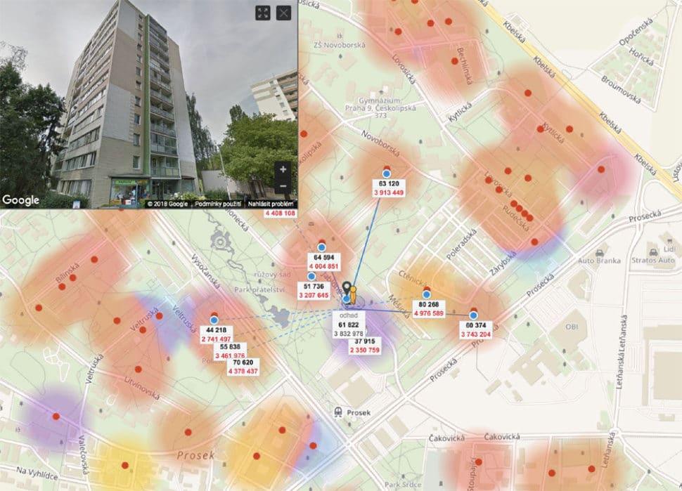Odhad nemovitosti online Jablonecká Praha Prosek