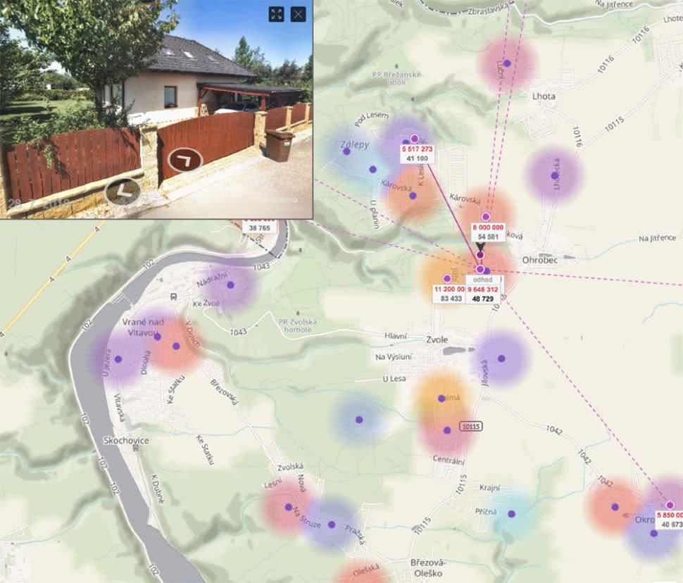 Odhad rodinného domu online Ohrobec
